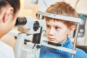 child at eye doctor appointment